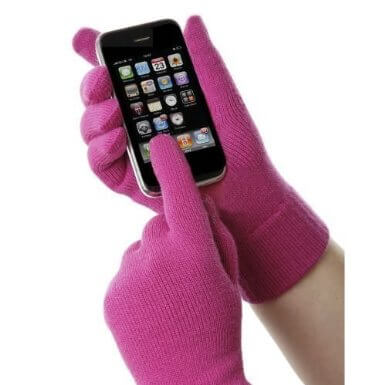 Pink Texting Gloves