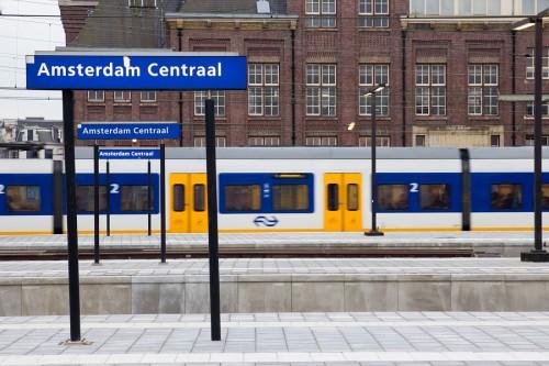 Amsterdam Centraal  train station.