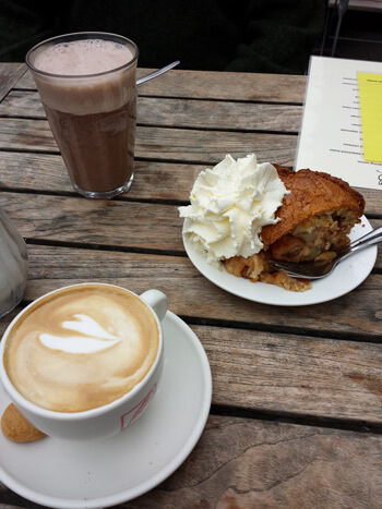 Apple tart with whipped cream.  Really, really good,