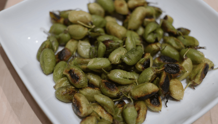 Sauted Fresh Garbanzo Beans