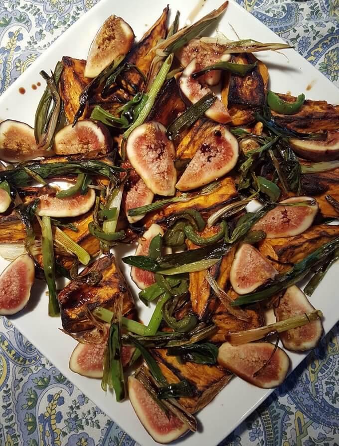 Roasted Sweet Potato and Fresh Fig Salad